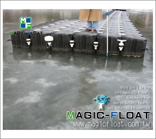 FD-001浮筒於結冰水上