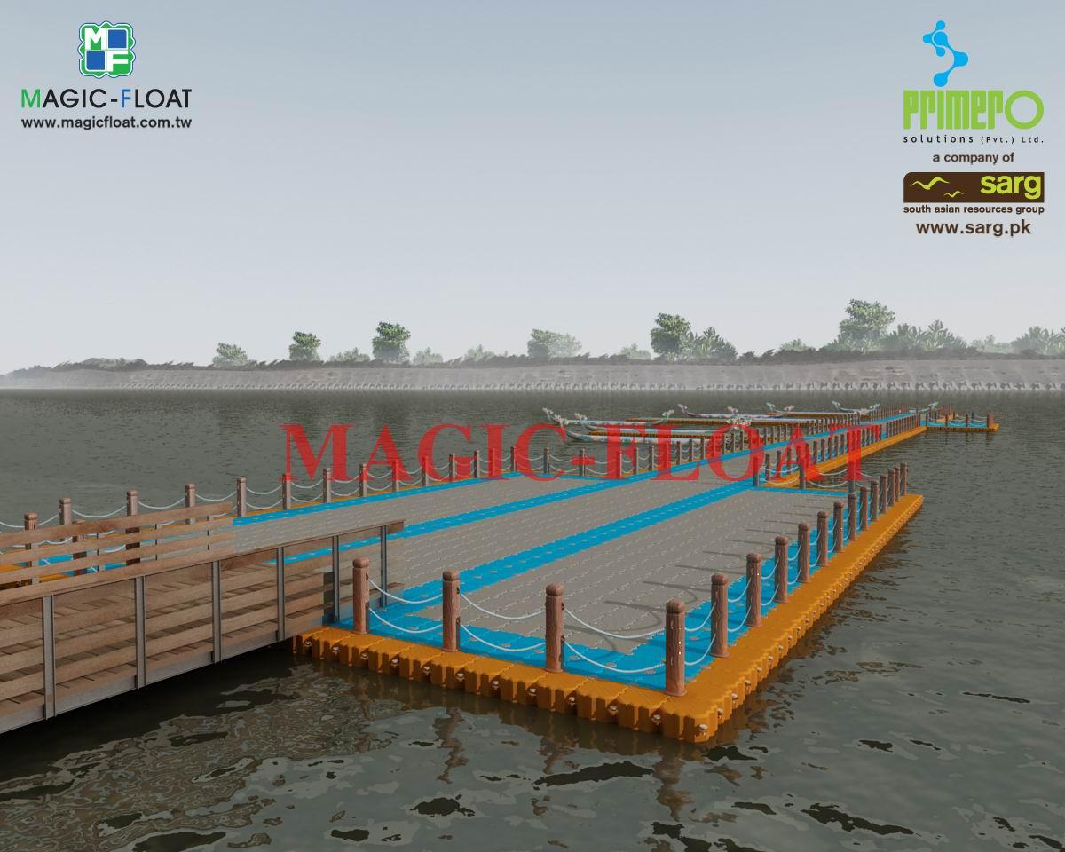 海上3D浮動碼頭