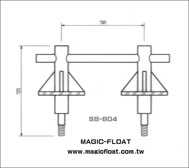 SA-804 Belaying Pin, Twin Type雙繫船柱